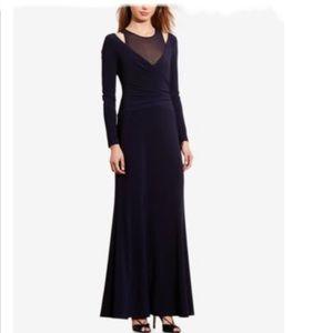 Lauren Ralph Lauren Jersey Gown Lighthouse Navy 4